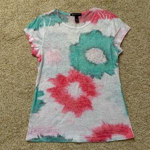INC Petite Floral Tie Dye Top | S